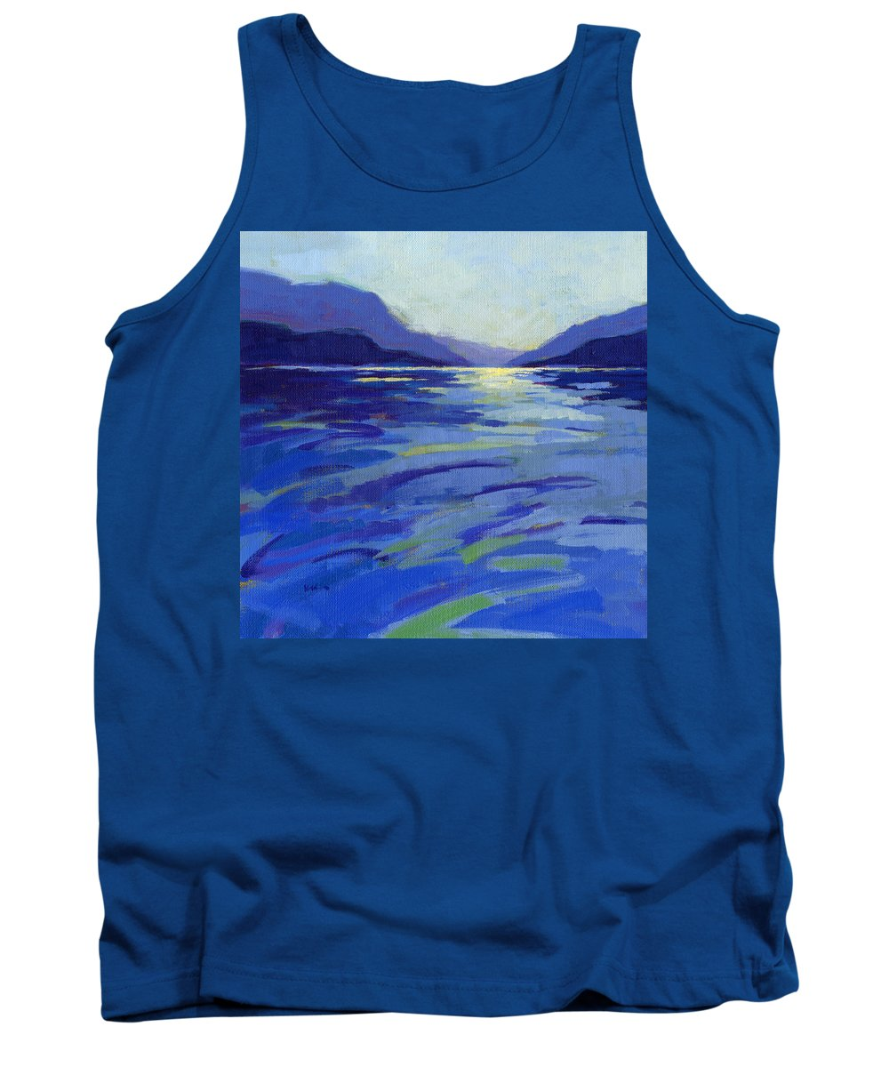 Water Tank Top featuring the painting Where The Whales Play 1 by Konnie Kim