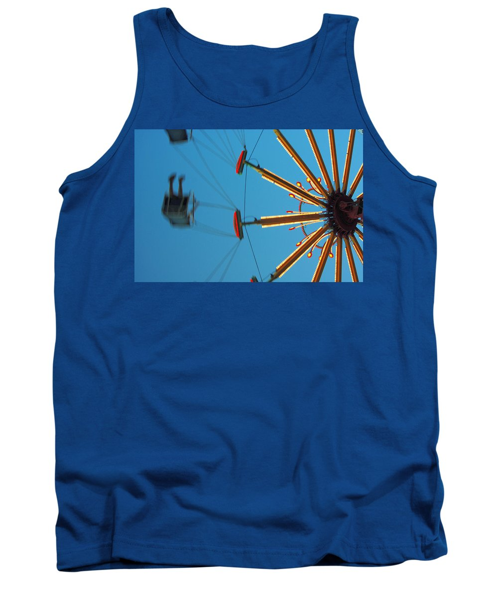 Color Tank Top featuring the photograph Whirling Twilight by Trish Hale