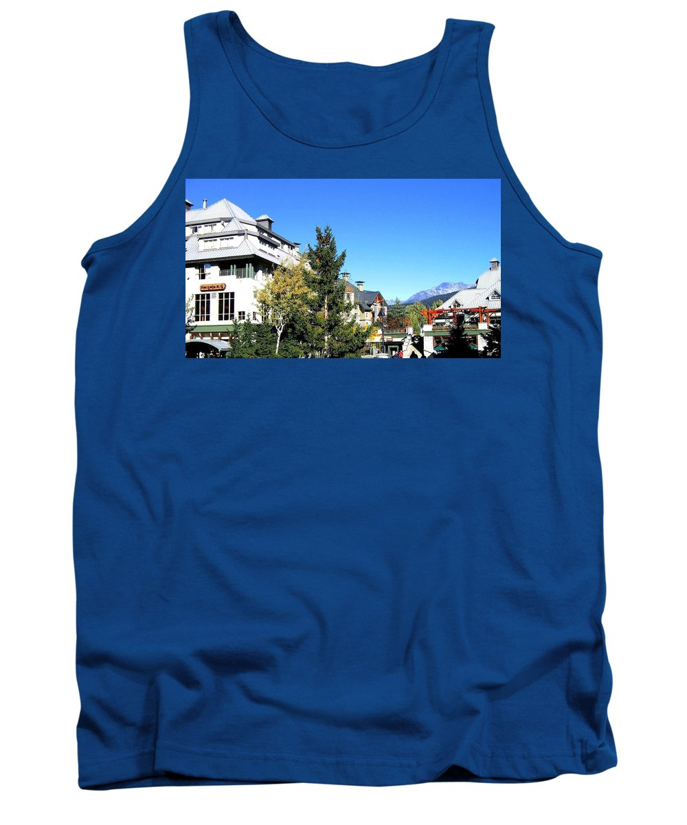 2010 Olympics Tank Top featuring the photograph Whistler Village by Will Borden