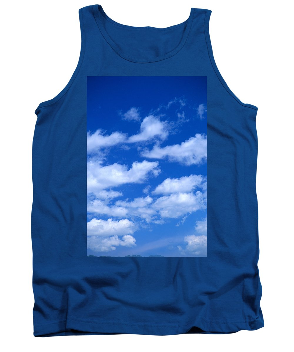 Air Tank Top featuring the photograph White Clouds by Kyle Rothenborg - Printscapes