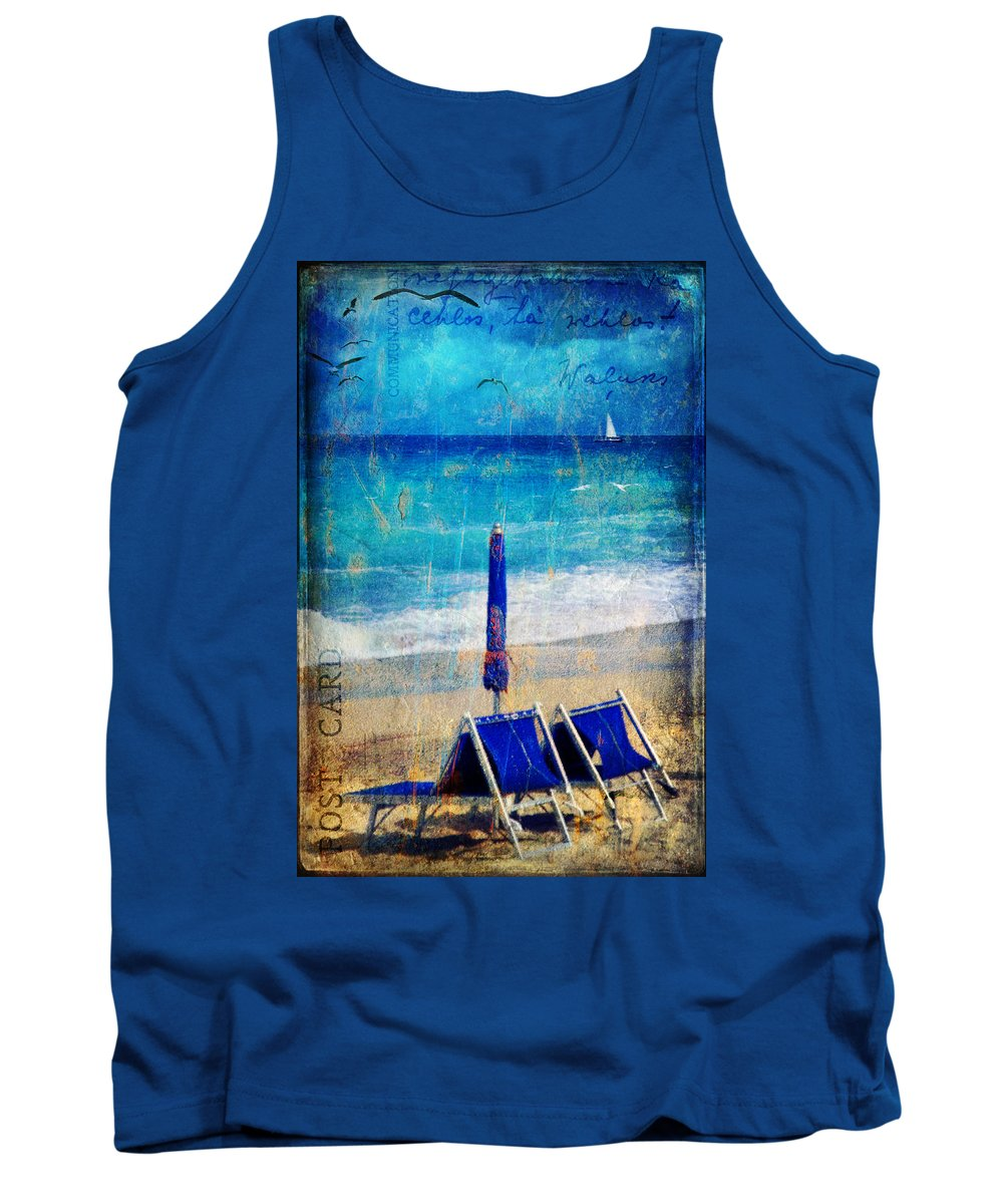 Beach Tank Top featuring the photograph White Sail by Silvia Ganora