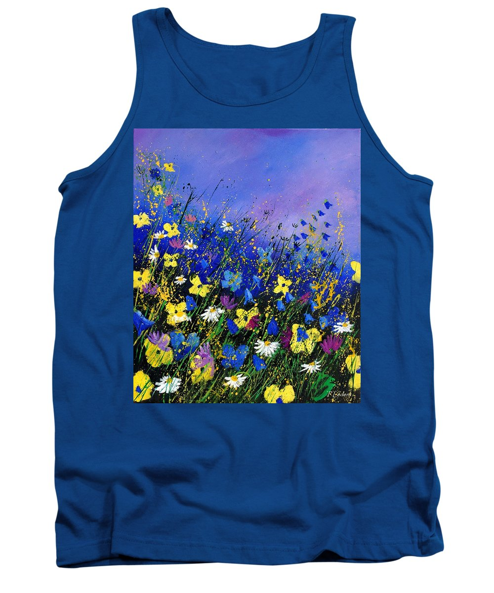 Flowers Tank Top featuring the painting Wild Flowers 560908 by Pol Ledent