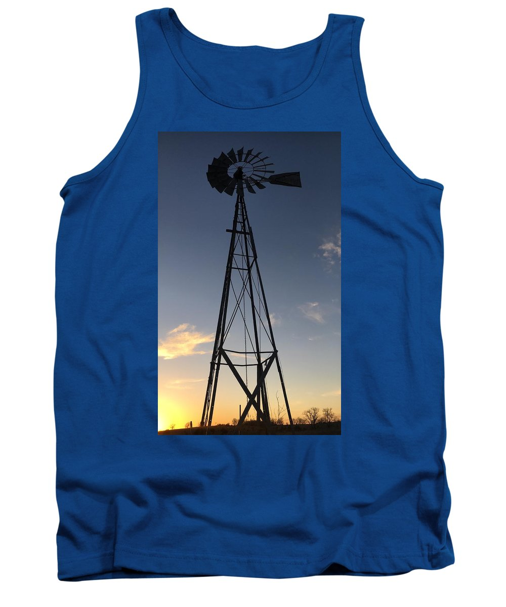 Windmill Tank Top featuring the photograph Wind Power by Kyle Mock