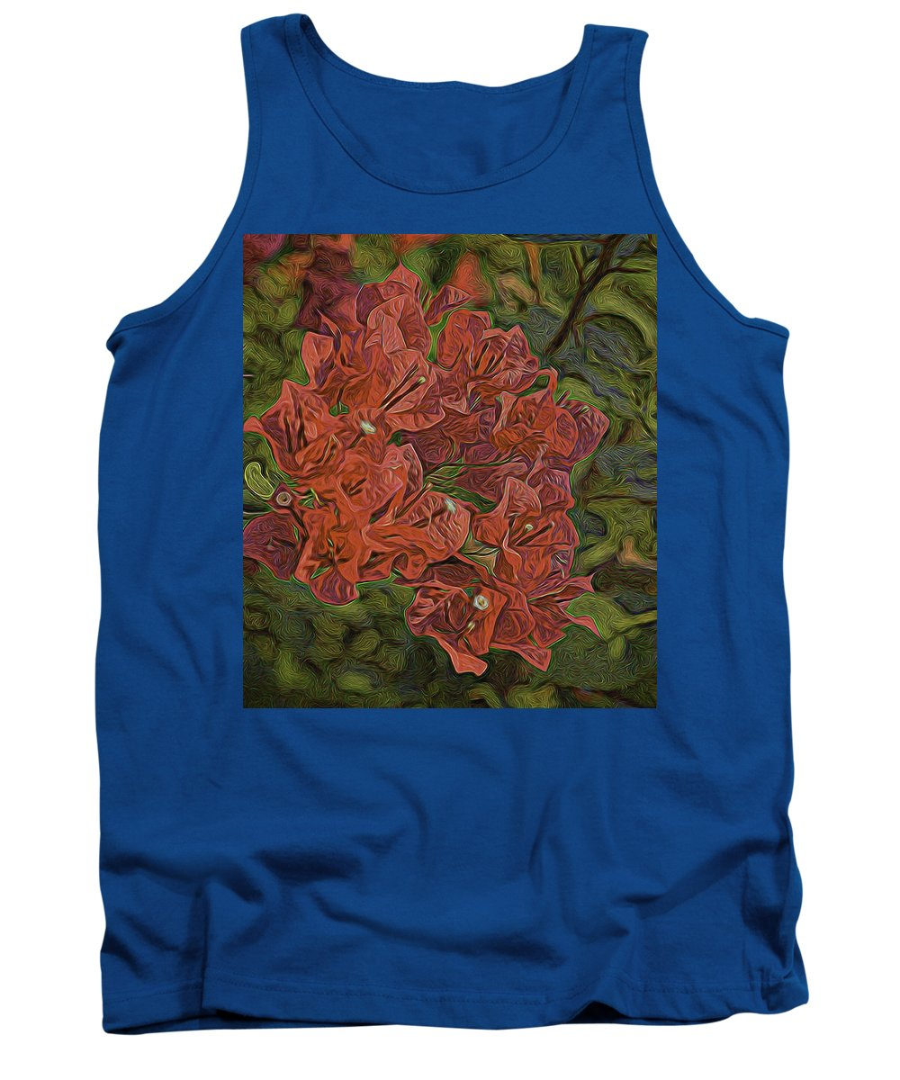Bougainvillea Tank Top featuring the photograph Wo-ganvillia by Marshall Barth