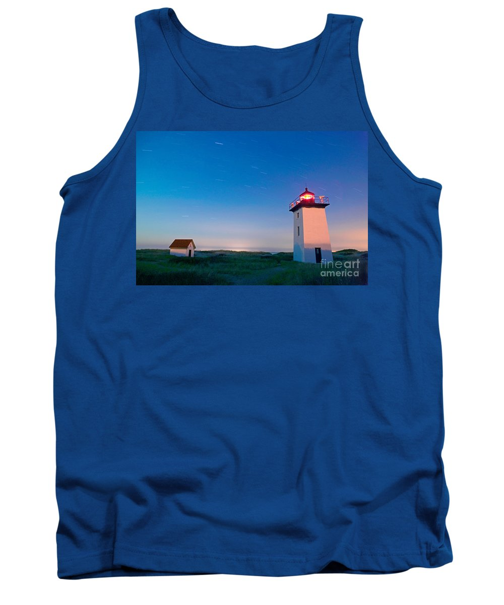 Wood End Lighthouse Tank Top featuring the photograph Wood End Lighthouse Provincetown Cape Cod by Matt Suess