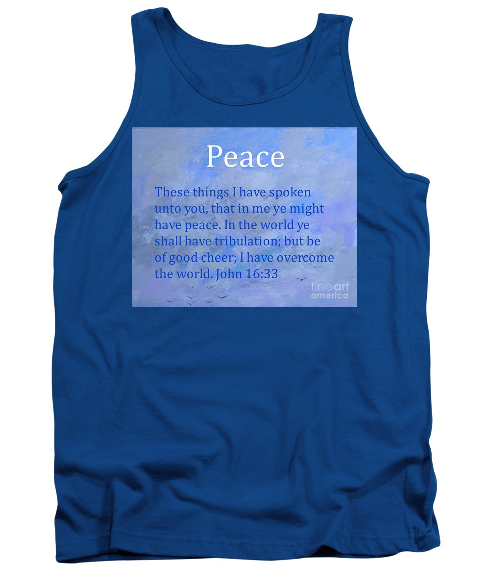 Words Of Peace Tank Top featuring the painting Words Of Peace by Philip Jones