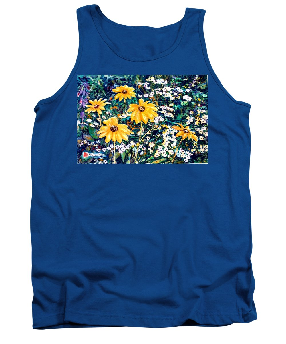 Daisies Tank Top featuring the painting Yellow Daisies by Norma Boeckler