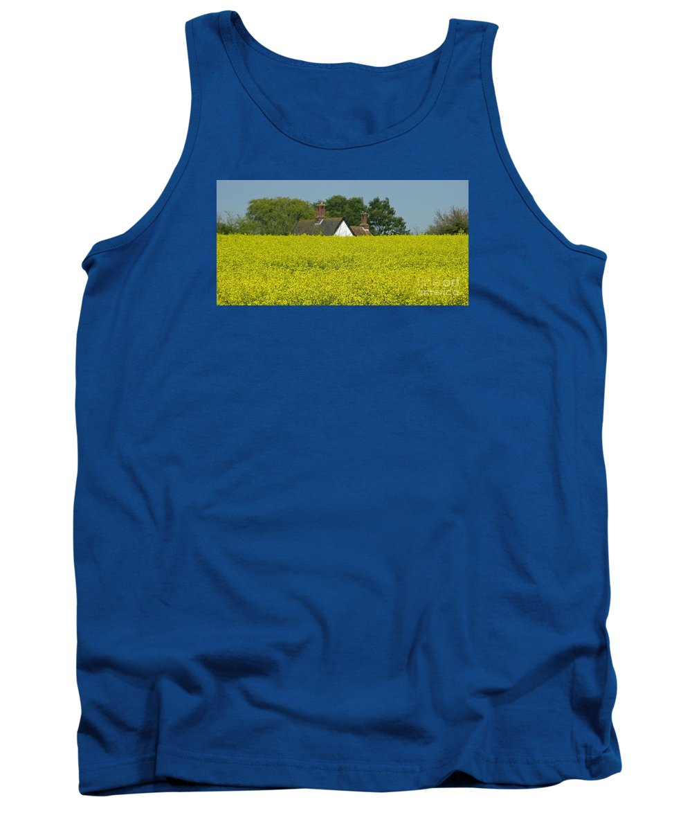 Landscape Tank Top featuring the photograph Yellow Gold by Ann Horn