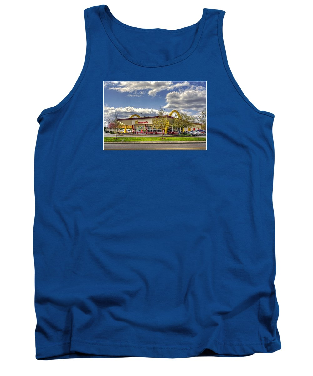 Mcdonald's Tank Top featuring the photograph You Deserve A Break Today by Chris Anderson