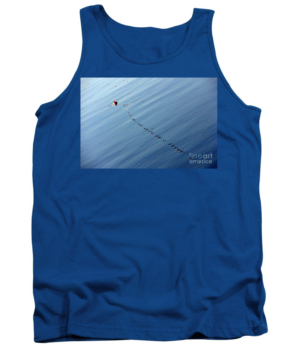Line Tank Top featuring the photograph Zip by Priscilla Richardson