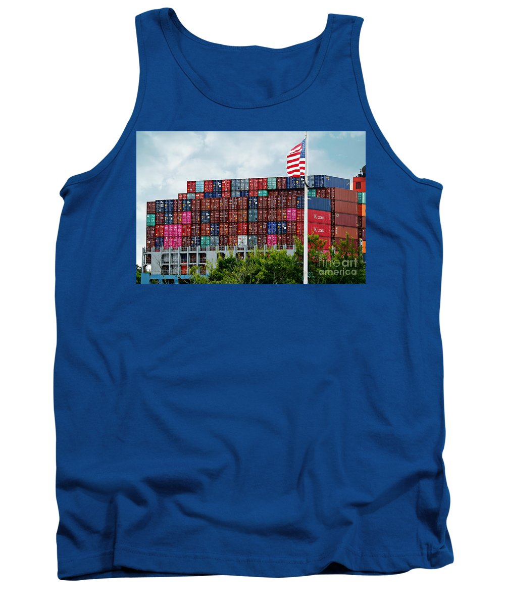 Shipping Tank Top featuring the photograph American Georgia Shipping Trade by Diann Fisher