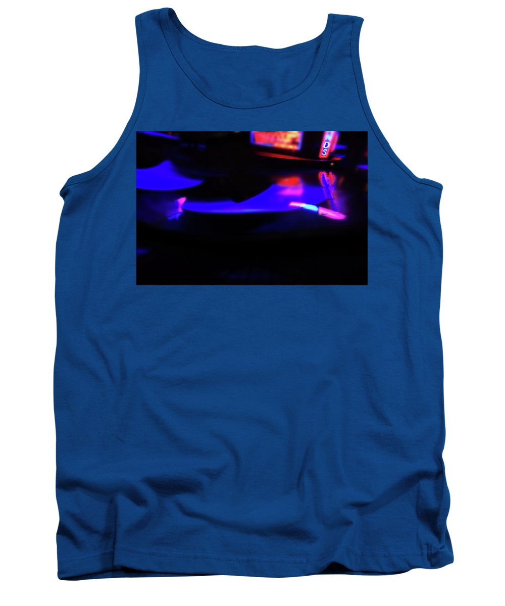 Blue Tank Top featuring the painting Blue Magic by Charles Stuart
