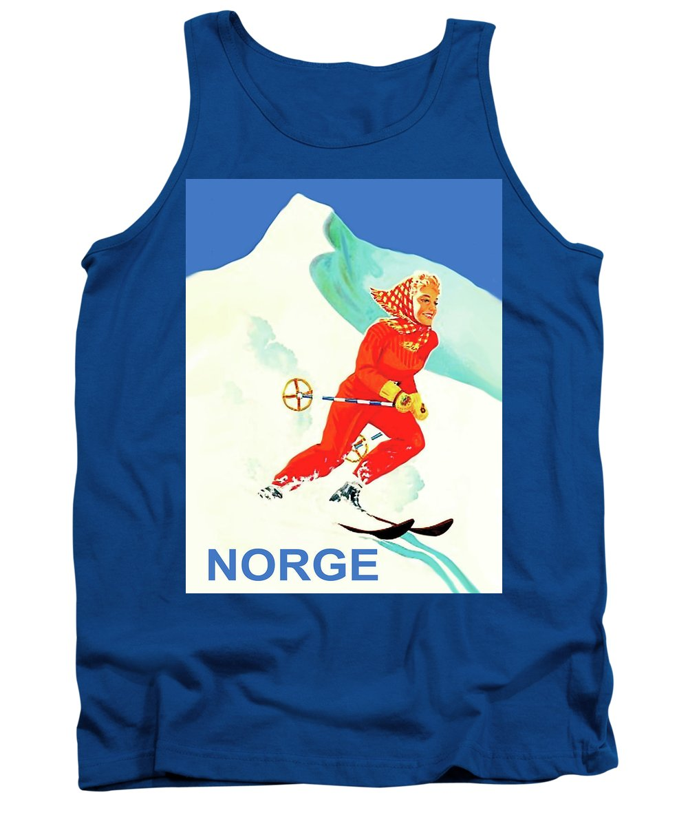 Norge Tank Top featuring the digital art Norge by Long Shot