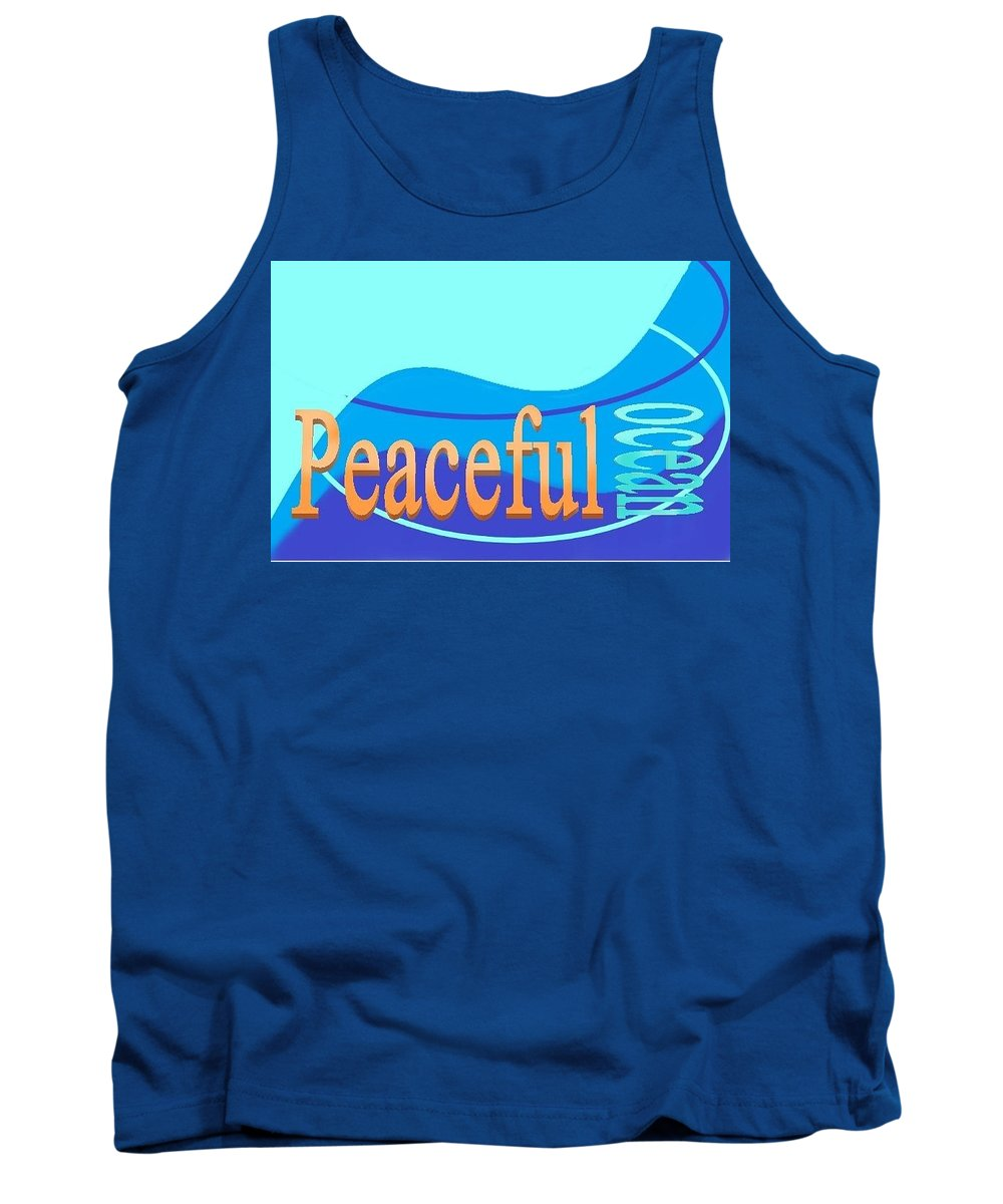Tank Top featuring the digital art Peaceful Ocean by Andrew Johnson