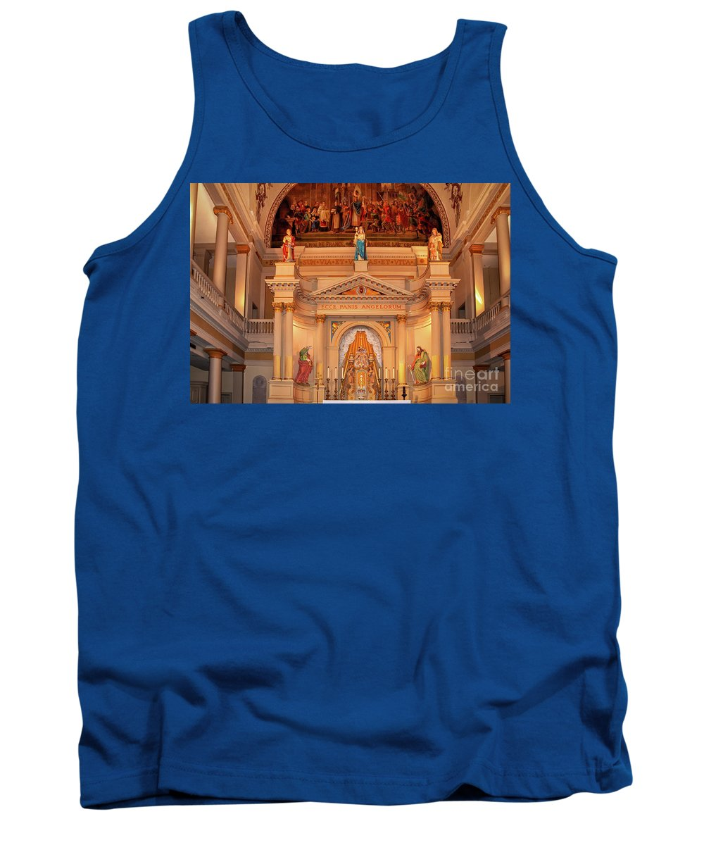 St Tank Top featuring the photograph St. Louis Cathedral Altar New Orleans by Kathleen K Parker