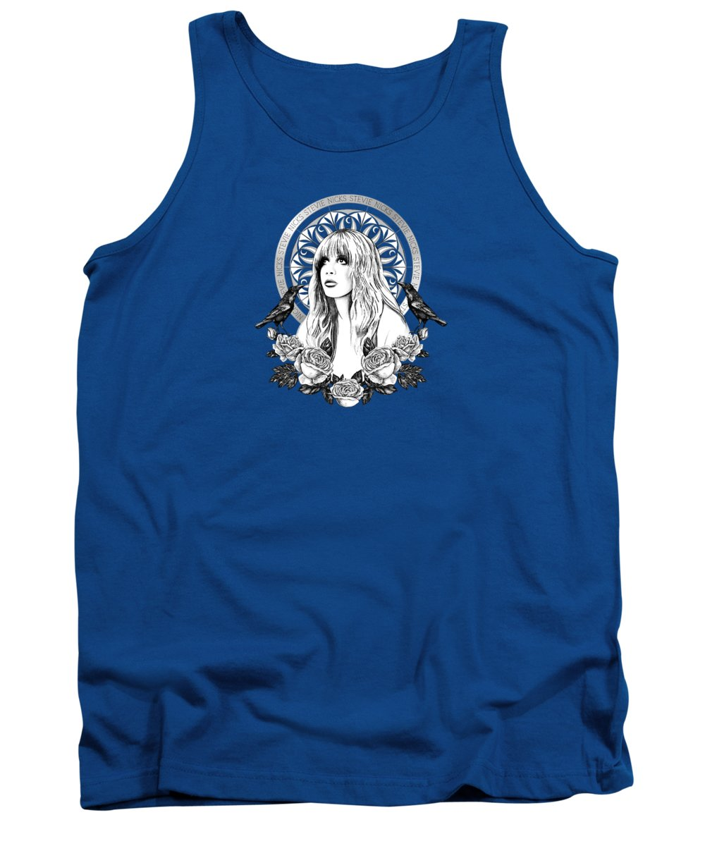Painting Tank Top featuring the painting Stevie Nicks Angel Of Dreams Icon by Little Bunny Sunshine
