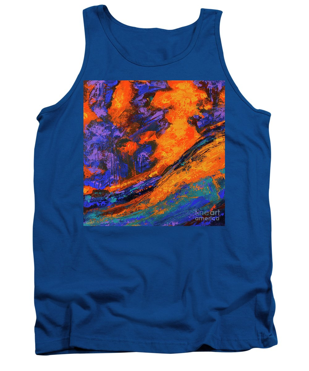 Tank Top featuring the painting The Grand Canyon_2 by Gurdish Pannu