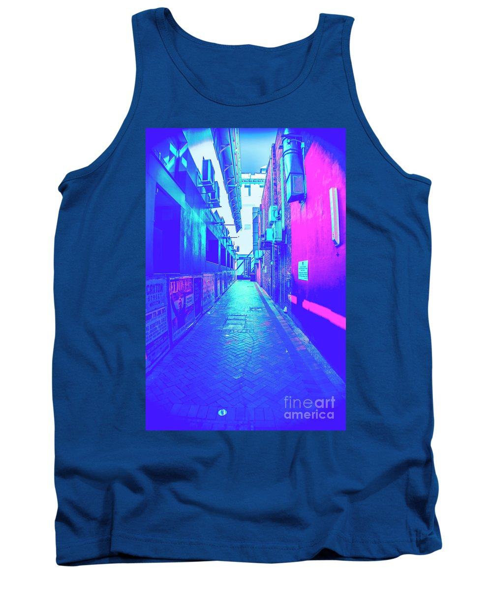 City Tank Top featuring the photograph Urban Neon by Jorgo Photography - Wall Art Gallery