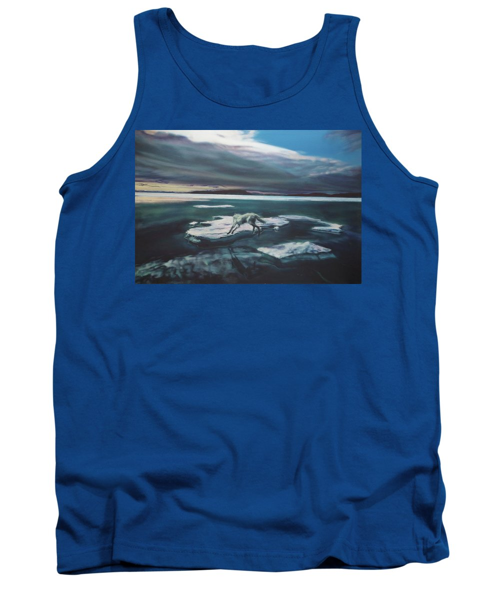 Realism Tank Top featuring the painting Arctic Wolf by Sean Connolly
