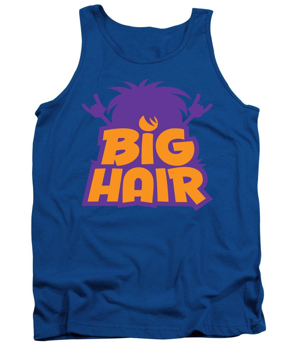 Metal Tank Top featuring the digital art Big Hair Band Logo by John Schwegel