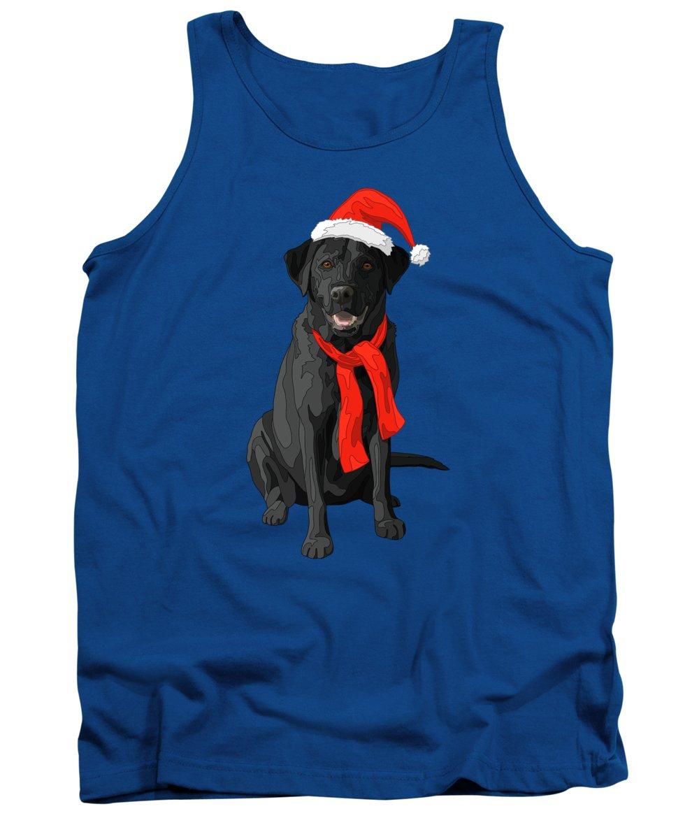 Christmas Dog Black Labrador Retriever Tank Top