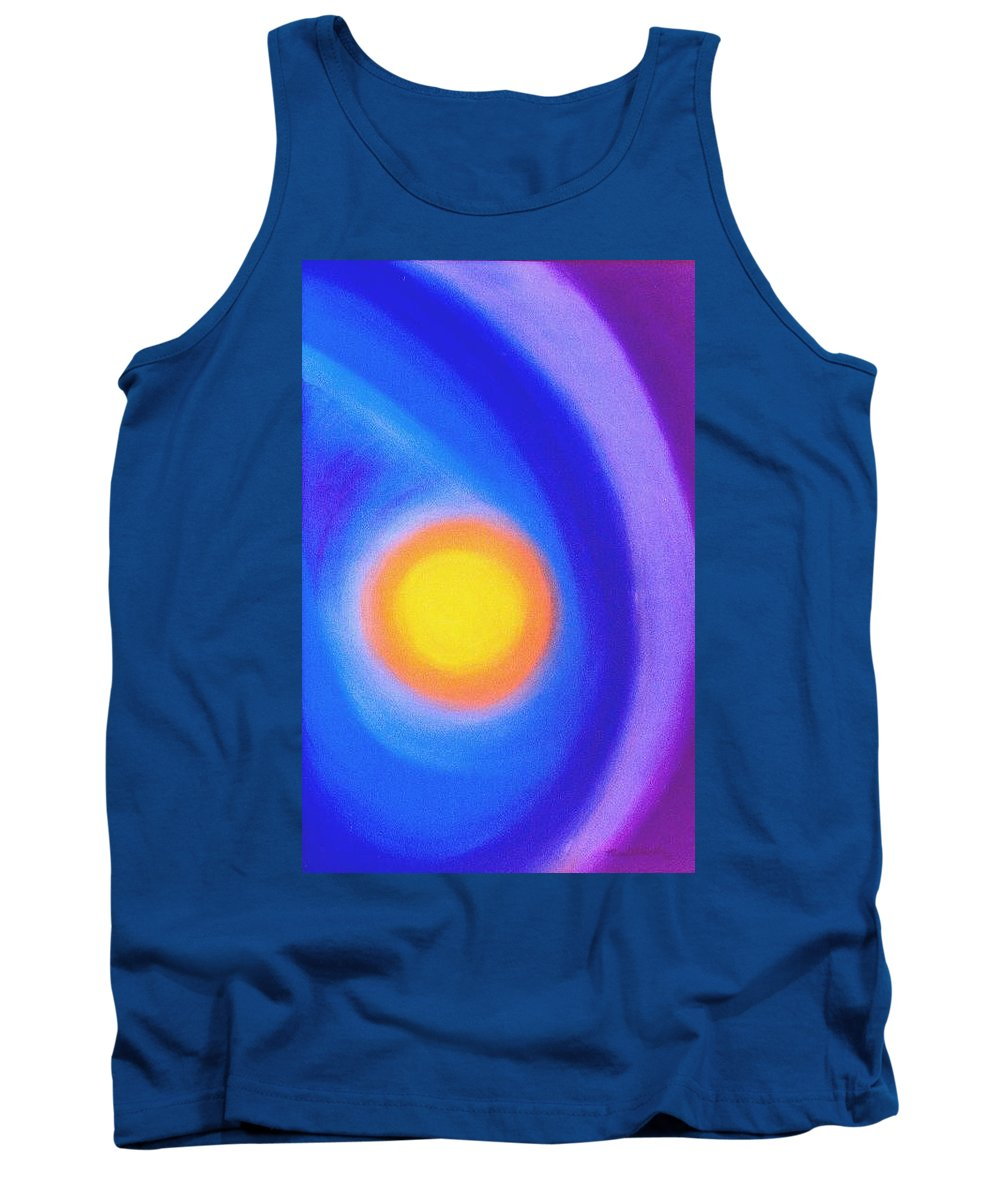 Sun Tank Top featuring the painting The Sun by Micah Guenther