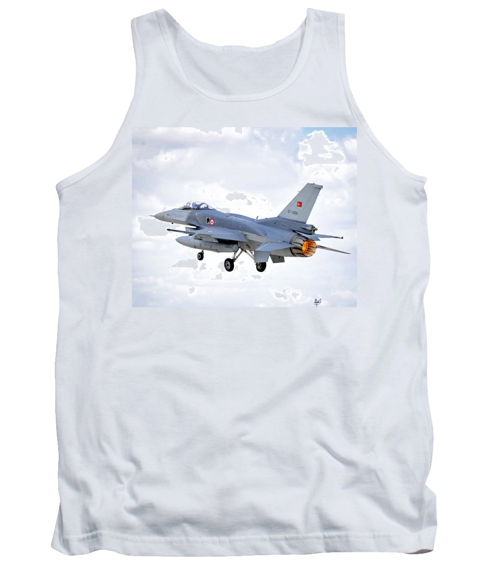 Aircraft Tank Top featuring the photograph F16 Fighting Falcon by Paul Fearn