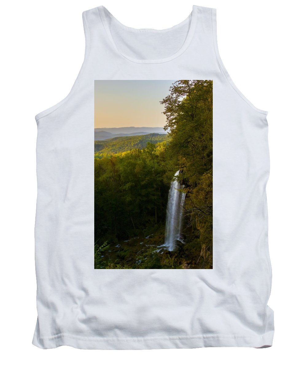 Falling Spring Valley Tank Top featuring the photograph Falling Spring Falls by Greg Reed