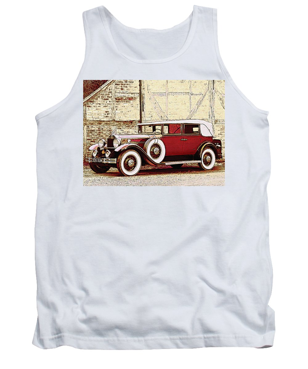 Car Tank Top featuring the photograph Packard Standard Eight Convertible by Lyriel Lyra