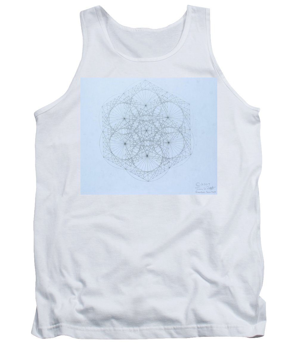 Jason Padgett Tank Top featuring the drawing Quantum Snowflake by Jason Padgett