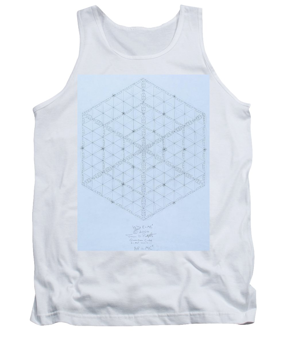 Energy Tank Top featuring the drawing Why Energy Equals Mass Times The Speed Of Light Squared by Jason Padgett