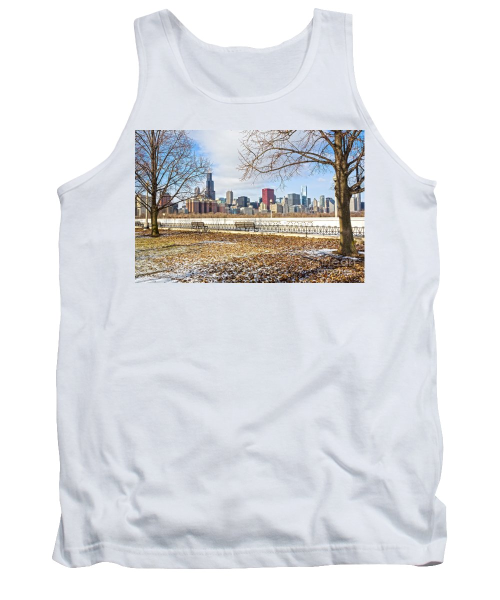 Winter Tank Top featuring the photograph 0452 Chicago Skyline by Steve Sturgill
