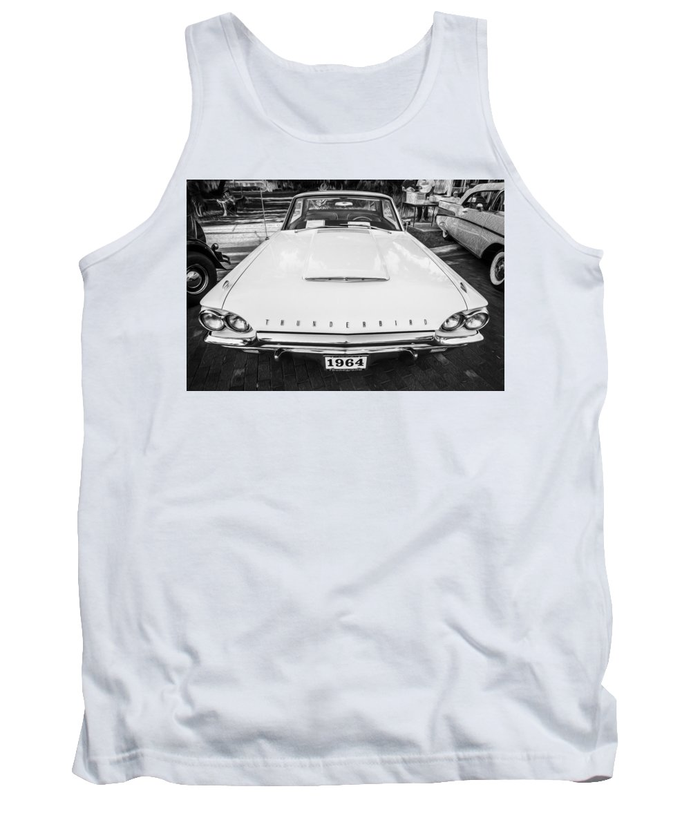 1964 Ford Thunderbird Tank Top featuring the photograph 1964 Ford Thunderbird Painted Bw by Rich Franco