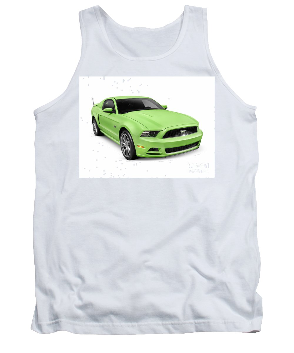 Mustang Tank Top featuring the photograph 2013 Ford Mustang Gt 5.0 Sports Car by Oleksiy Maksymenko