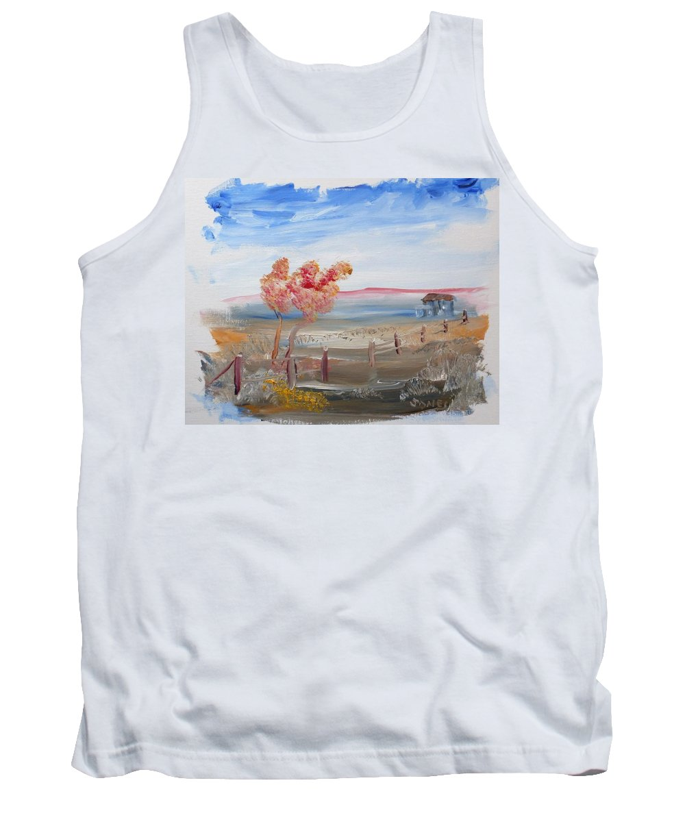 Country Tank Top featuring the painting A Country Scene by Bob Jones