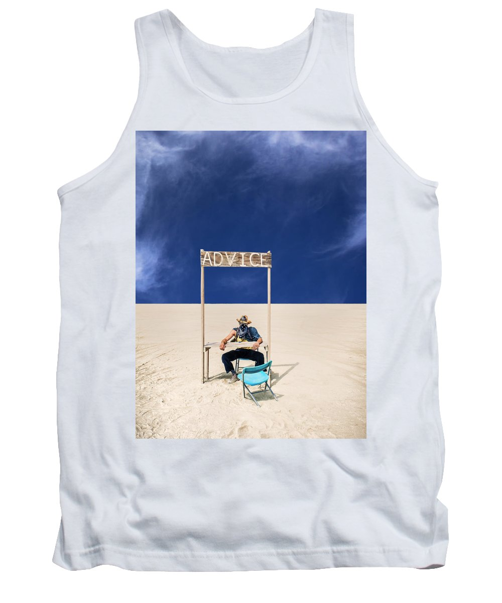 Advice Tank Top featuring the photograph Advice by Dominic Piperata