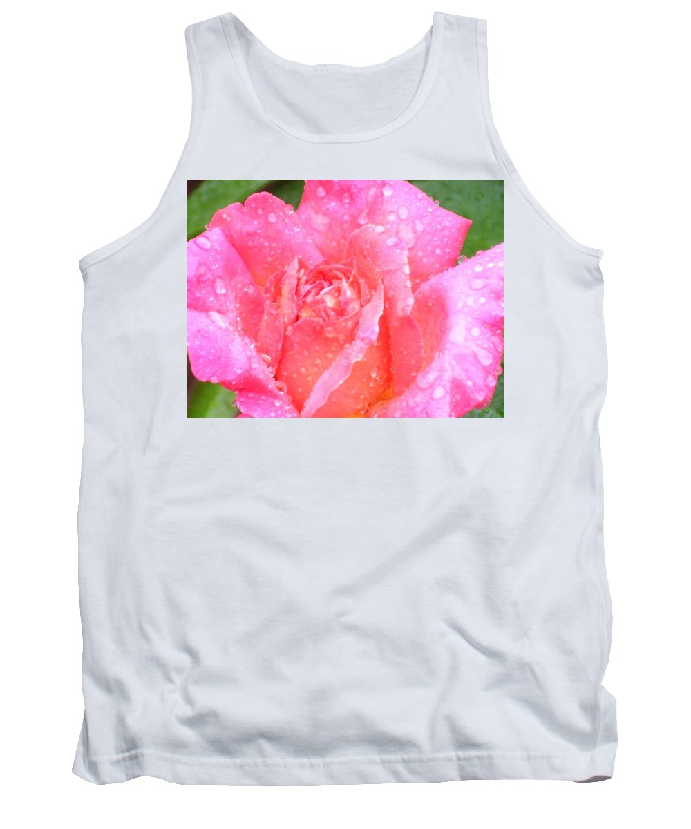 Flowers Tank Top featuring the photograph After The Rain Series by Tammy Garner