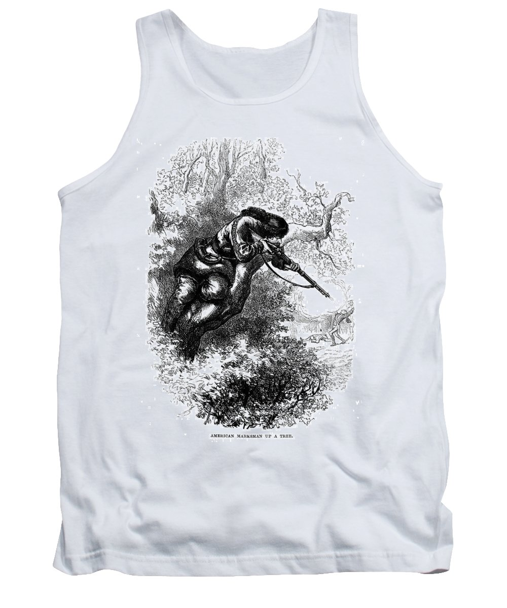 1780s Tank Top featuring the photograph American Marksman by Granger