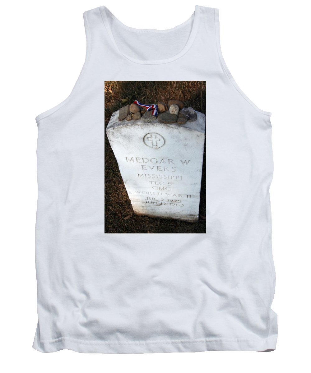 Black Tank Top featuring the photograph Medgar Evers -- An Assassinated Veteran by Cora Wandel