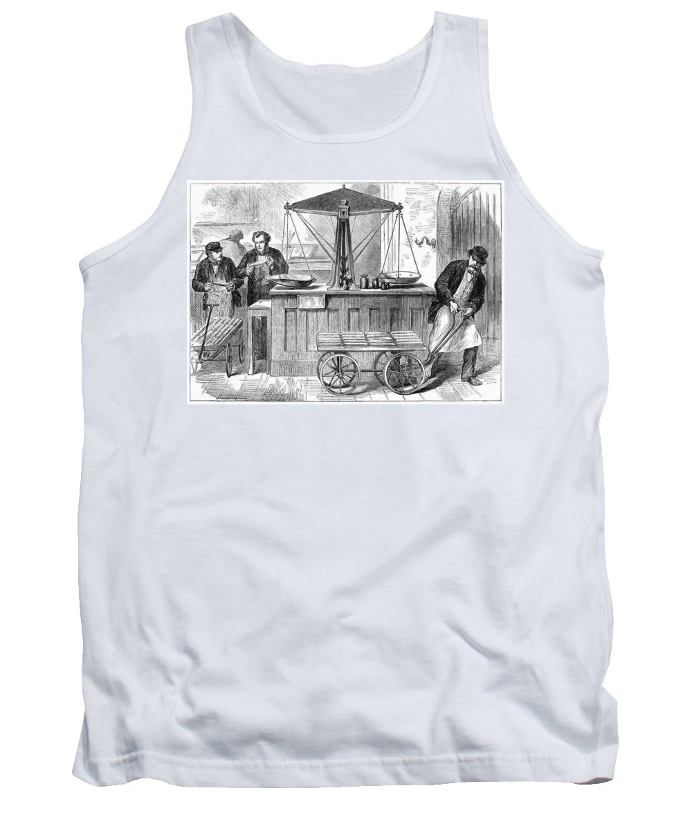 1872 Tank Top featuring the painting Bank Of England, 1872 by Granger