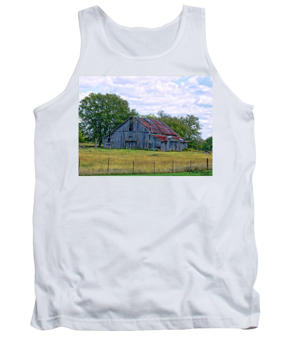 Clouds Tank Top featuring the photograph Barn 32 by Ericamaxine Price
