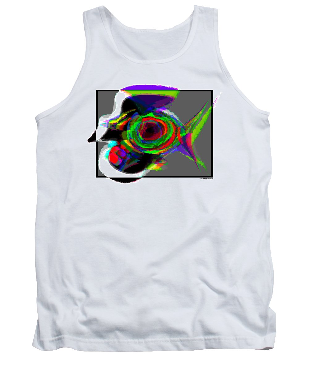Birds Tank Top featuring the painting Bird Fish by Anthony Scarpace