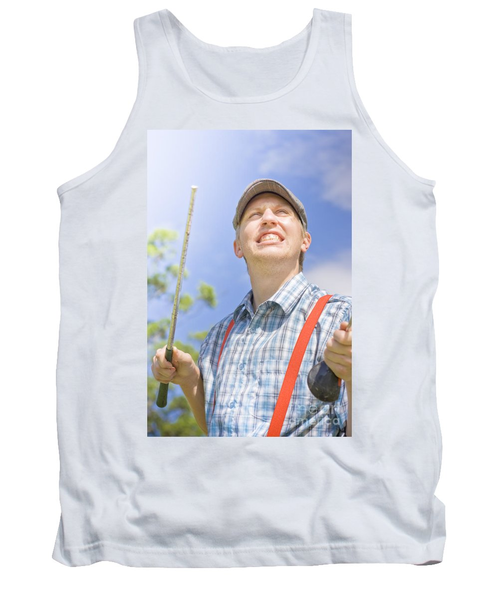 Person Tank Top featuring the photograph Broken Golf Club by Jorgo Photography - Wall Art Gallery
