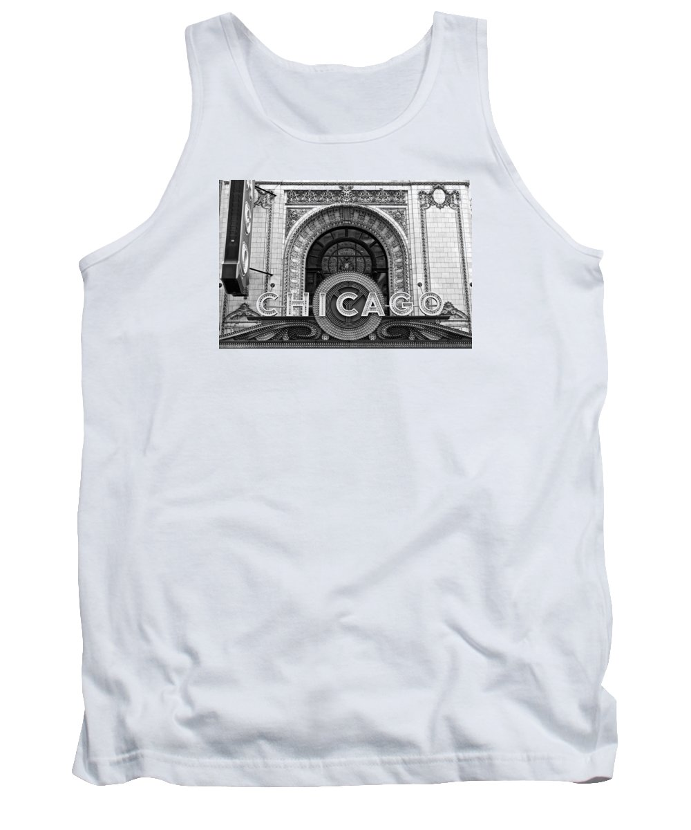 Chicago Tank Top featuring the photograph Chicago Theater Marquee by Frozen in Time Fine Art Photography