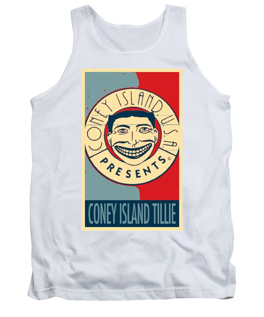 Cartoon Art Tank Top featuring the photograph CONEY ISLAND TILLIE in HOPE by Rob Hans