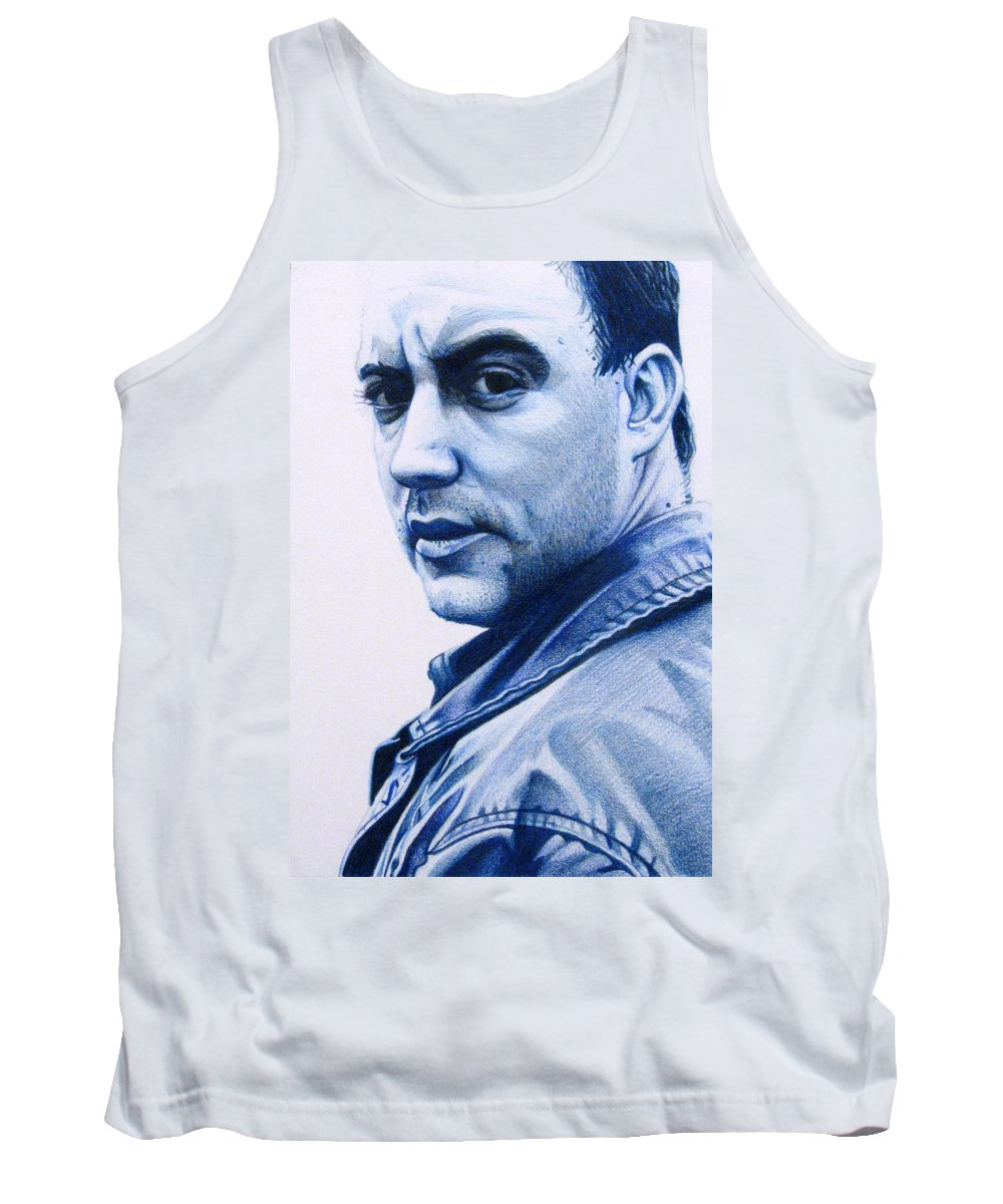 Dave Matthews Tank Top featuring the drawing Dave Matthews by Joshua Morton