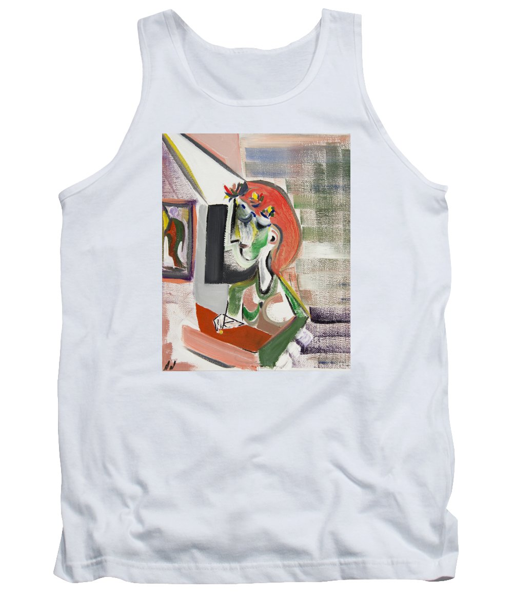 Portrait Tank Top featuring the painting Diary by Dennis Davis