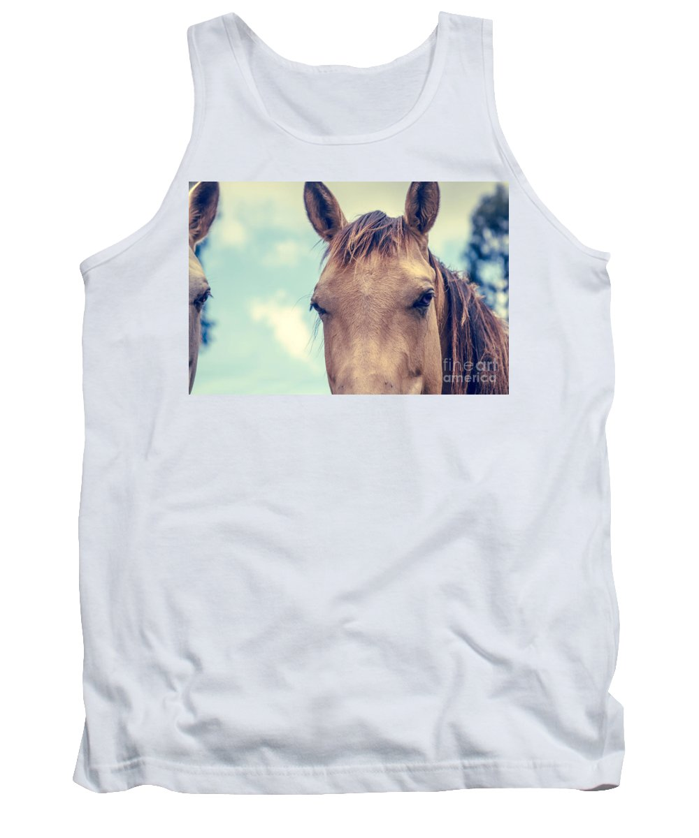 Horse Tank Top featuring the photograph Dimensions Of A Heart by Sharon Mau