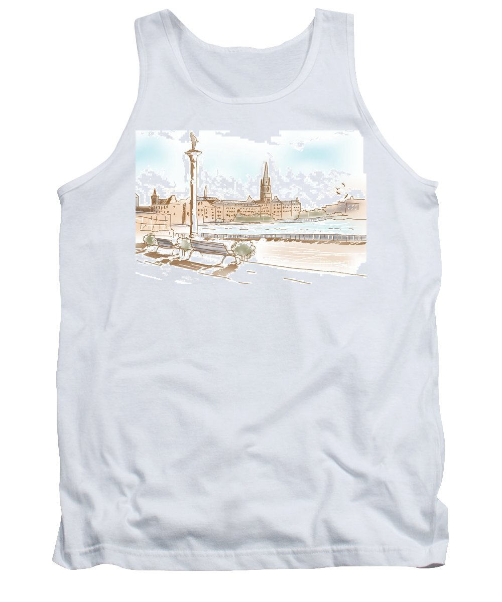 Stockholm Tank Top featuring the photograph Fine Art Landscape Sketch Of Stockholm Sweden by Jorgo Photography - Wall Art Gallery