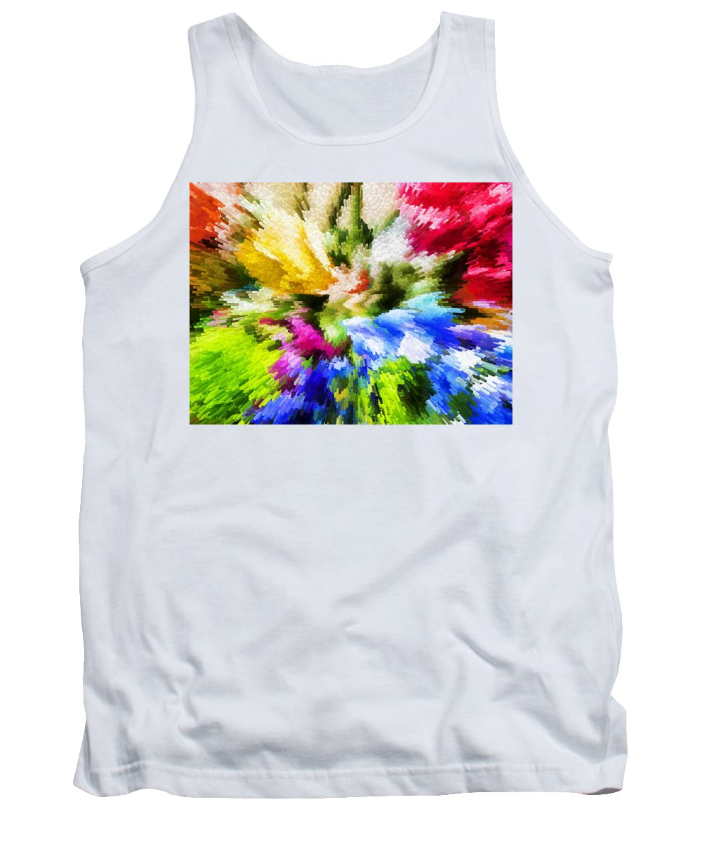 Flowers Tank Top featuring the photograph Floral Art X by Tina Baxter